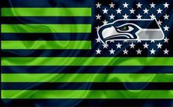 2 Seattle Seahawks Stars & Stripes Waterproof Vinyl Stickers