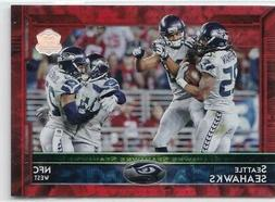 2015 topps seattle seahawks team card red