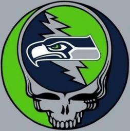 3 Seattle Seahawks Grateful Dead 3x3 Waterproof Vinyl Sticke