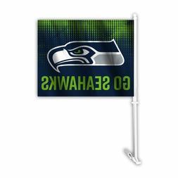 auto car window flags go seahawks nfl