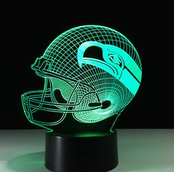 Seattle Seahawks Collectible Decor Night Light Touch Lamp Gi