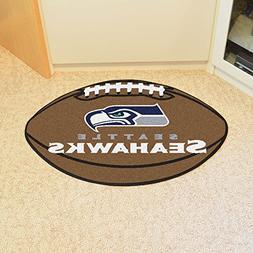 Fan Mats Seattle Seahawks Football Mat BROWN/WHITE/BLUE/SILV