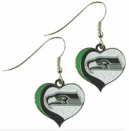 glitter heart earring swirl charm NFL Pick your team