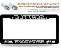 Rico Industries NFL Plastic License Plate Frame, Seattle Sea
