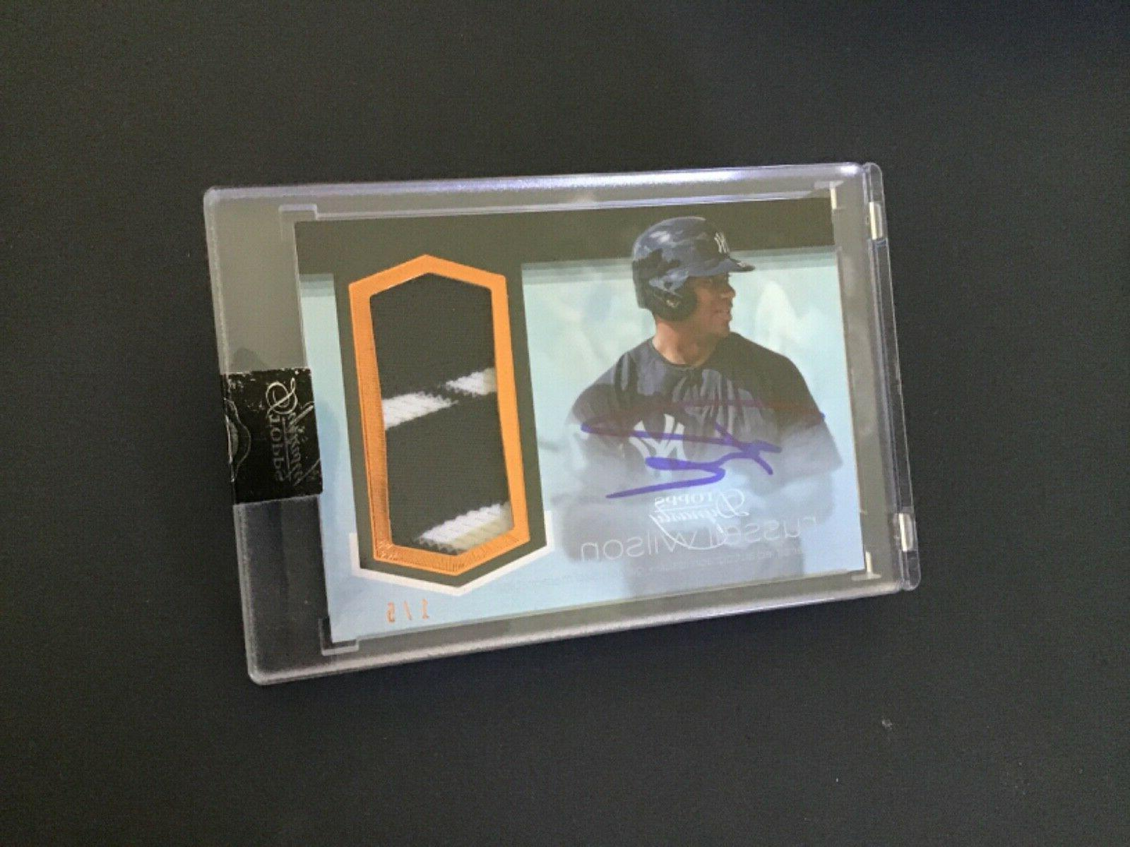 2018 topps dynasty russell wilson pin stripe