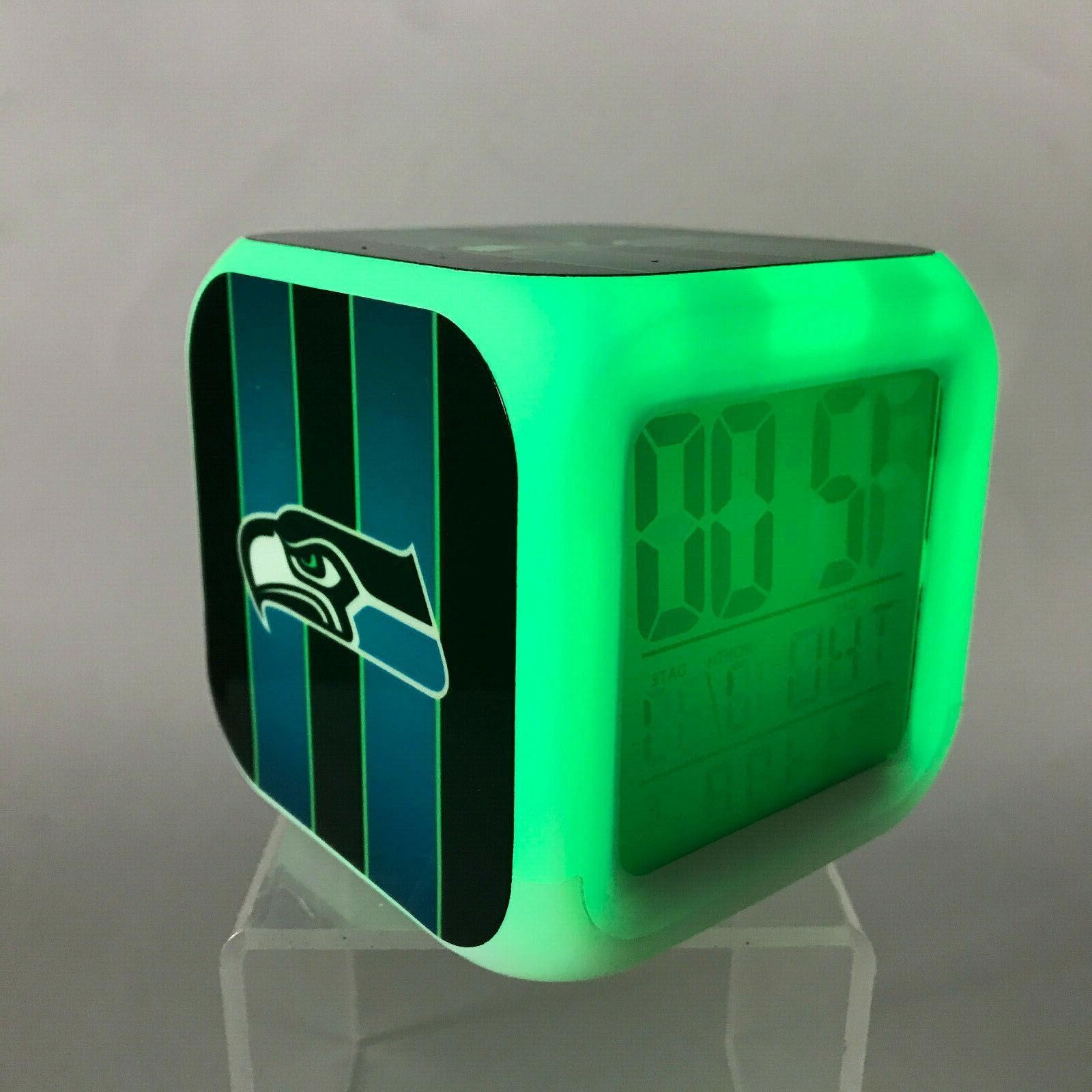 nfl led digital alarm clock watch lamp