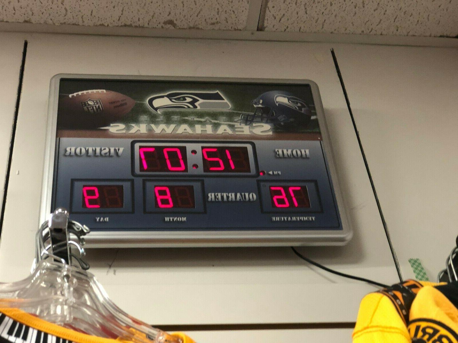 "NFL X 14 ""Scoreboard' ALARM CLOCK"