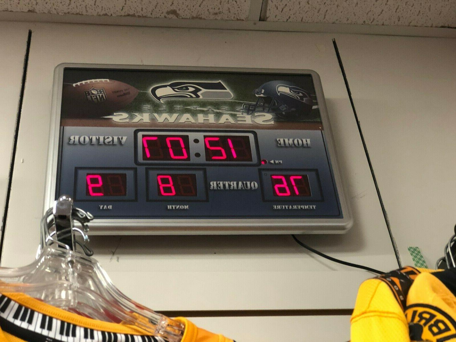 """NFL Seattle SEAHAWKS 19"""" X CLOCK"""