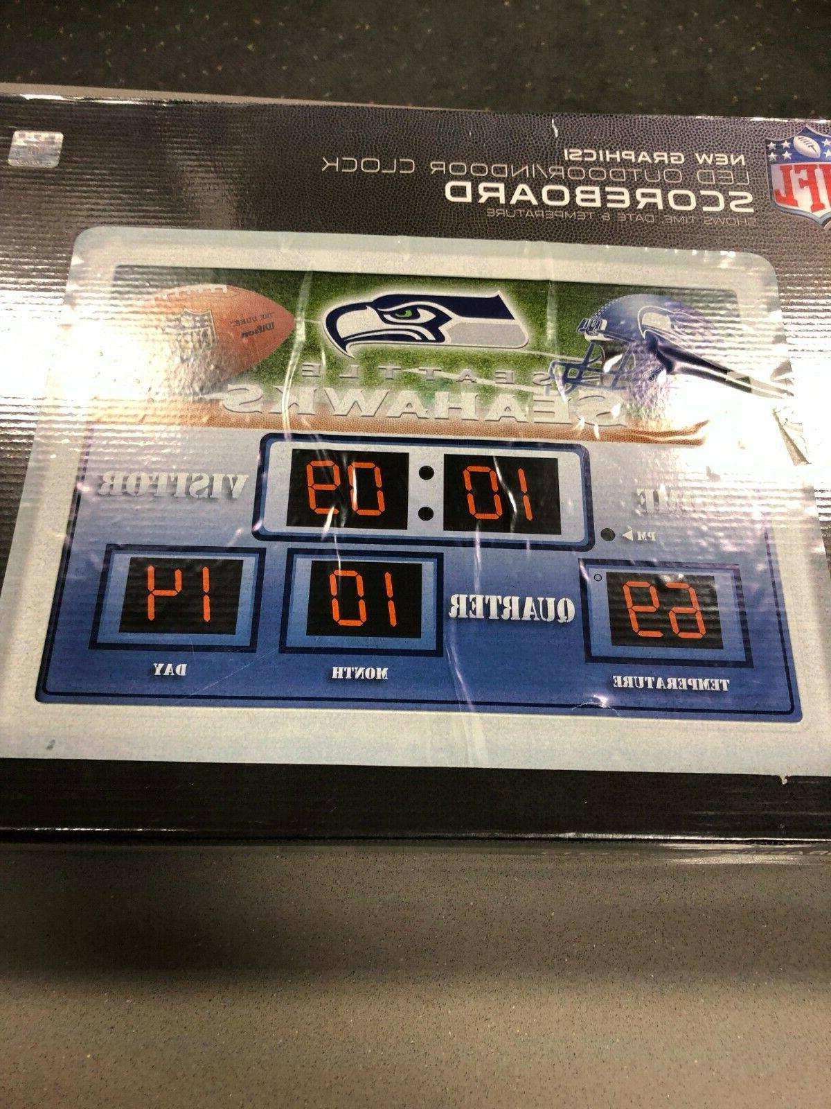 "NFL SEAHAWKS X 14 ""Scoreboard' ALARM CLOCK"
