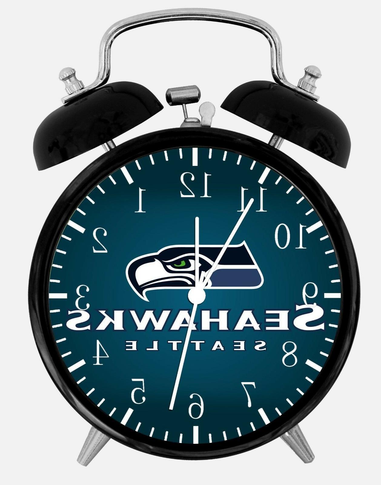 seattle seahawks alarm desk clock 3 75