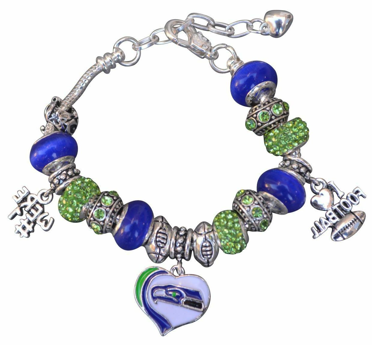seattle seahawks bracelet seahawks jewelry seahawks gift