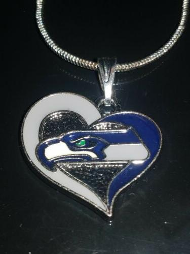 Seattle Heart Necklace NFL