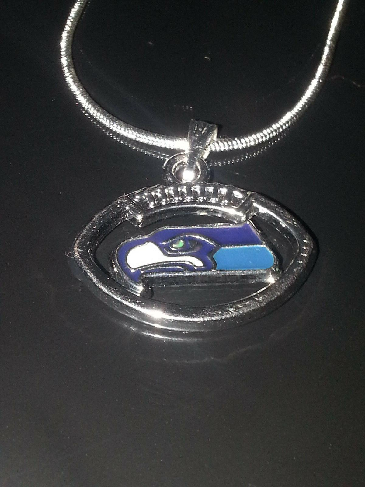seattle seahawks necklace pendant sterling silver chain