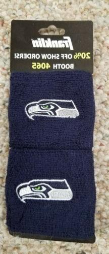 Seattle Seahawks New Wristbands Sweatbands by Franklin Two P