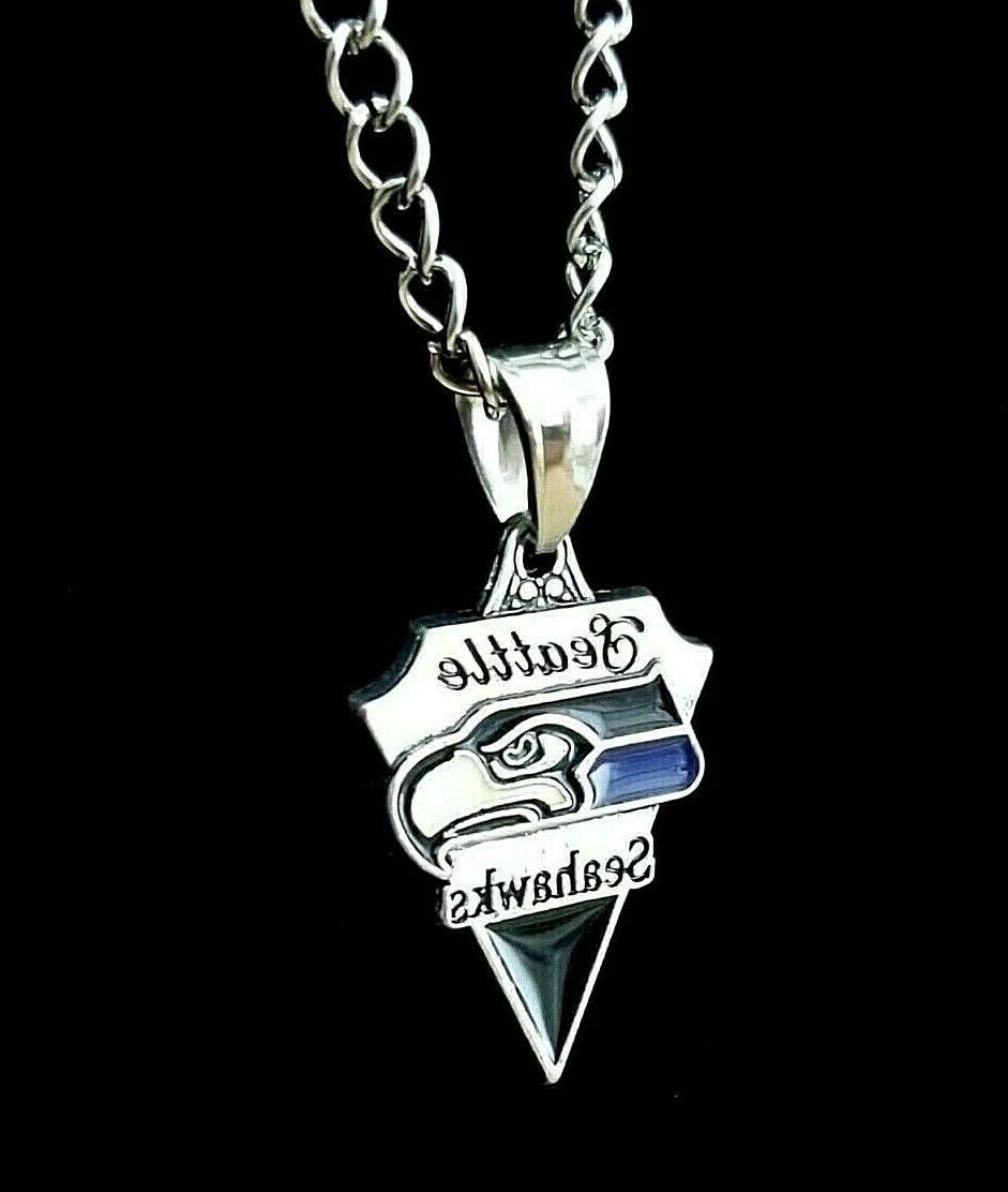 Seattle NFL Silver Link Chain Necklace
