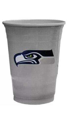 seattle seahawks plastic gameday cups 18oz 18ct