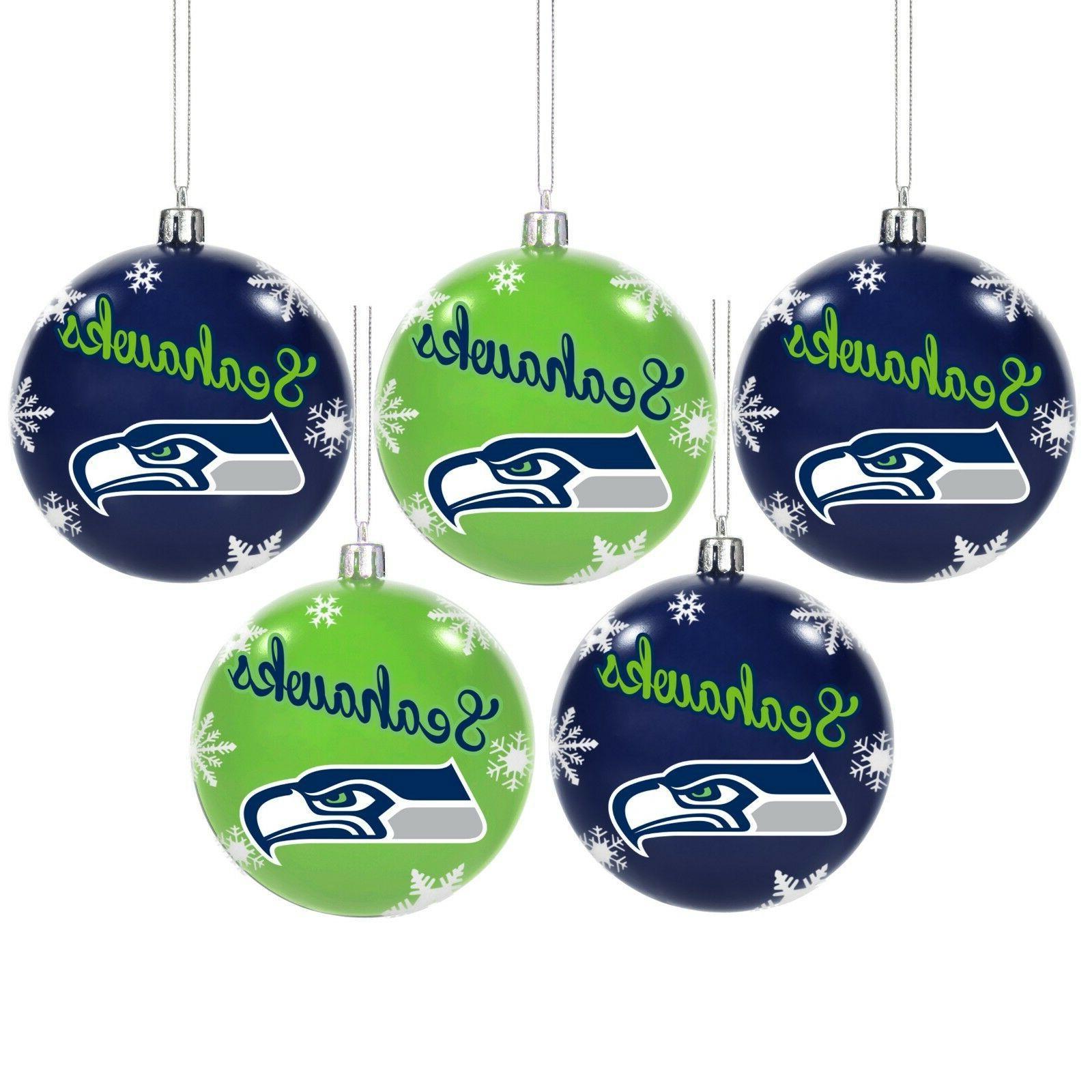 Seattle Seahawks Shatterproof BALLS Christmas Tree Holiday ...