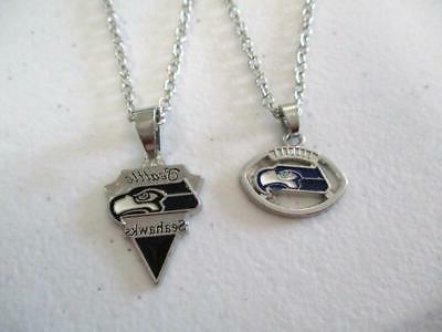 seattle seahawks silver tone nfl football sports