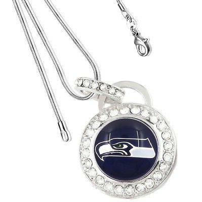 seattle seahawks sterling silver womens link chain