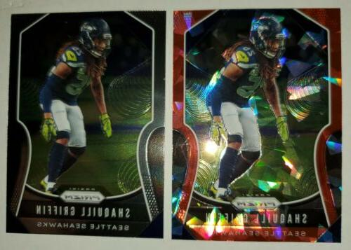 shaquill griffin seattle seahawks 2019 prizm cracked