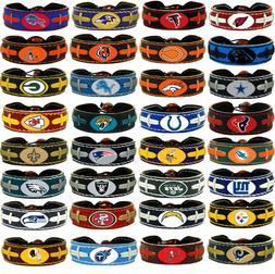 leather football bracelet team color nfl pick