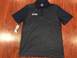 Majestic Men's Seattle Seahawks Football Polo Jersey Shirt M