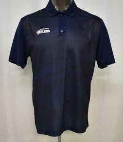 Majestic Mens NFL Seattle Seahawks Cool Base Polo Shirt NWT