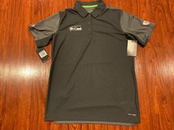 Nike Men's Seattle Seahawks Team Issue Polo Jersey Shirt M