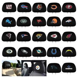 New 2pc Set NFL Pick Your Team Car Truck SUV Van Headrest Co