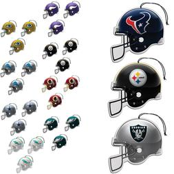 New NFL Pick Your Team Paper Hanging Air Freshener 3 pack Of
