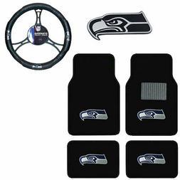 New NFL Seattle Seahawks Car Truck Floor Mats Steering Wheel