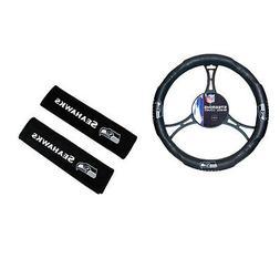New NFL Seattle Seahawks Car Truck Steering Wheel Cover Seat
