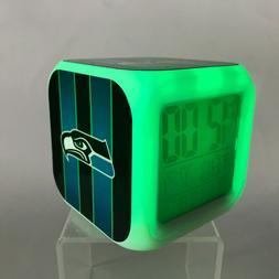 Seattle Seahawks LED Digital Alarm Clock Watch Lamp Gift Rus