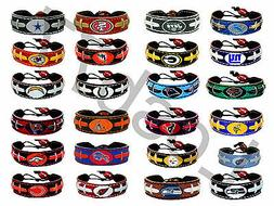 NFL Official Leather Football Bracelet All Teams And Colors