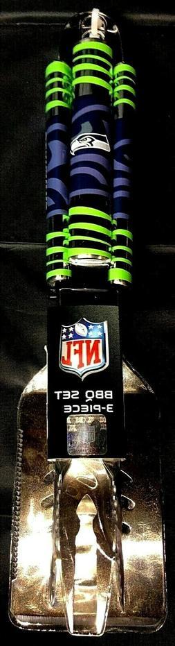 NFL Seattle Seahawks 3 piece BBQ utensil set