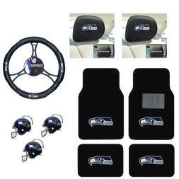 NFL Seattle Seahawks Car Truck Floor Mats Steering Wheel Cov