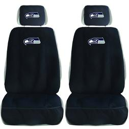 New NFL Seattle Seahawks Car Truck 2 Front Seat Covers & Ste