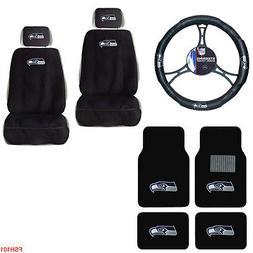 NFL Seattle Seahawks Car Truck Seat Covers Steering Wheel Co