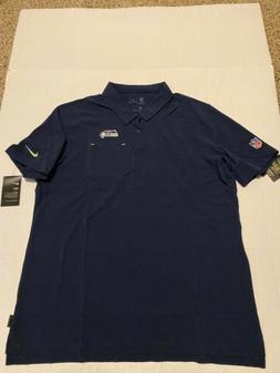NFL Seattle Seahawks NIKE Dry Dri-Fit Elite Navy Polo Shirt