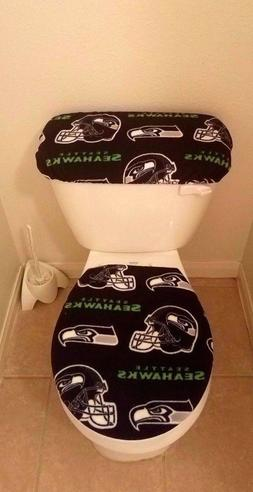 Seattle Seahawks Fleece Fabric Toilet Seat Cover Set