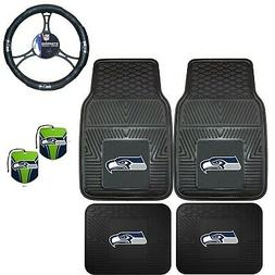 NFL Seattle Seahawks Floor Mats Steering Wheel Cover & Air F