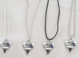 NFL SEATTLE SEAHAWKS Football Symbol Logo on CHAIN or CORD P