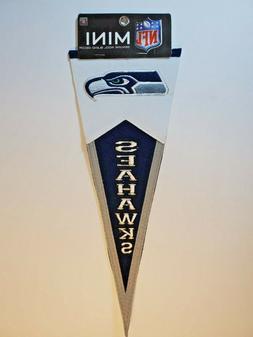 NFL SEATTLE SEAHAWKS Genuine Wool Blend Decor Mini Pennant