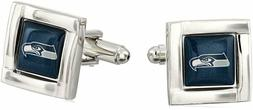 NFL Seattle Seahawks Logo Square Cufflinks with Gift Box Set