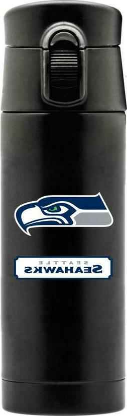 IMPRESSIVE SEATTLE SEAHAWKS 16oz STAINLESS STEEL COFFEE THER