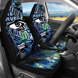 Seattle Seahawks 2Pcs Car Truck Seat Covers Universal Fit Au