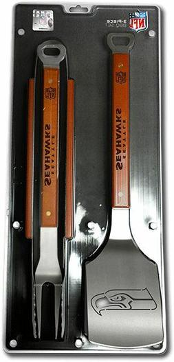 seattle seahawks 3 piece bbq grill tools