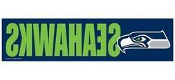 Seattle Seahawks 3 x 12 Inch Bumper Sticker  NFL Strip Truck