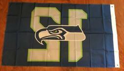 Seattle Seahawks 3'x5' Feet 12th Man Banner Flag Man Cave De