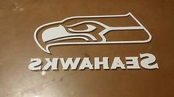 Seattle Seahawks 4 x 7 White Car Decal Sticker